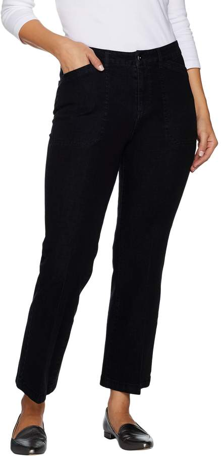 Isaac Mizrahi Live! 24/7 Denim Regular Flare Ankle Jeans