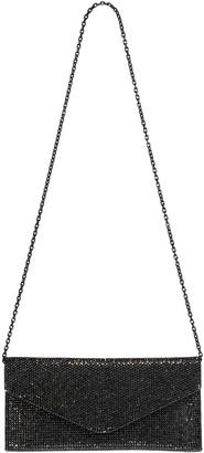 Judith Leiber Envelope Grey Crystal Clutch