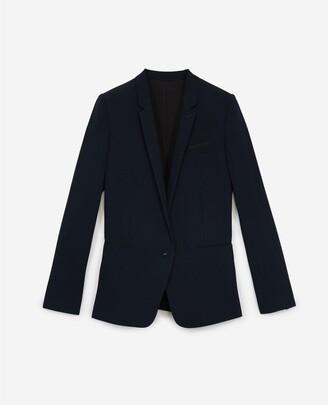 The Kooples Navy blue suit jacket in flowing crepe