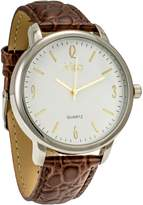 MC M&c Ferretti Men's | Brown Croc Strap Dial Watch | FT14602