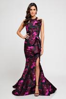 Terani Couture 1723E4266 Asymmetrical Draped Evening Dress