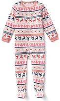 Gap Reindeer fair isle footed sleep one-piece