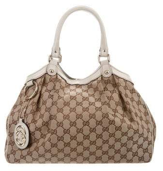 a60977a3bd3b4d Gucci Canvas Bag - ShopStyle