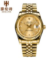 HOLUNS Men's Automatical Mechanical Self-wind Wrist Watch Stainless Steel Strap Luxury Watch with Gift Box R Series