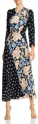 Rebecca Taylor Mixed-Print Floral Maxi Dress