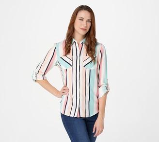 Denim & Co. Striped Button-Front Shirt