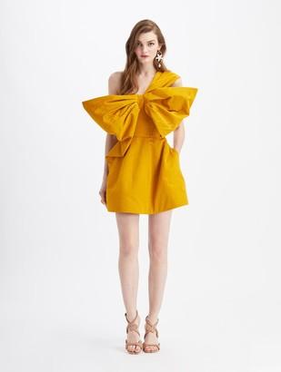 Oscar de la Renta Bow Cocktail Mini Dress