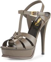 Saint Laurent Tribute Patent 135mm Platform Sandal