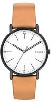 Skagen Men's Round Leather Strap Watch, 40Mm