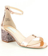 Betsey Johnson Blue by Jayce Glitter Block Heel