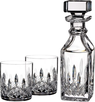 Waterford Lismore Square Lead Crystal Decanter & Tumbler Glasses