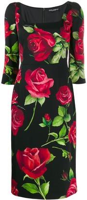 Dolce & Gabbana Portofino print fitted dress
