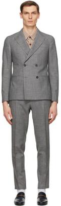 Ermenegildo Zegna Grey Wool Double-Breasted Suit