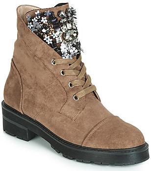 Elue par nous FILET women's Mid Boots in Brown