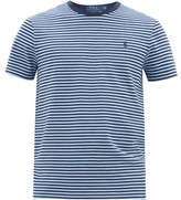 Polo Ralph Lauren Logo-embroidered Striped Cotton T-shirt - Mens - Blue Multi