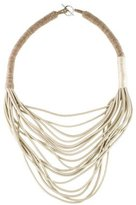 Brunello Cucinelli Leather Multistrand Necklace