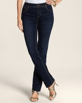 Chico's So Slimming By Medium Vintage Wash Slim Leg Jean