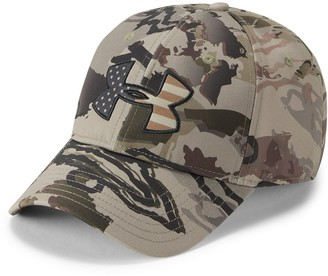Under Armour Men's UA Camo Big Flag Logo Cap
