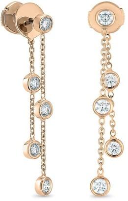 De Beers 18kt rose gold Clea Five diamond earrings