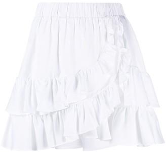 FEDERICA TOSI High-Rise Ruffled Miniskirt