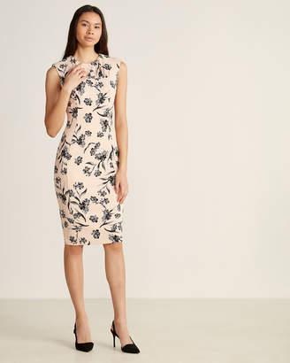 Calvin Klein Blossom & Black Floral Shift Dress