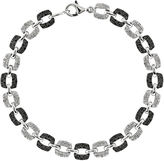 FINE JEWELRY 1/2 CT. T.W. White and Color-Enhanced Black Diamond Sterling Silver Bracelet