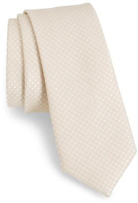 The Tie Bar Spin Dot Silk & Cotton Tie