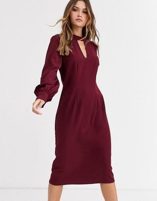 Y.A.S balloon sleeve midi dress