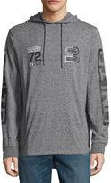 Ecko Unlimited Unltd Long Sleeve Jersey Pattern Hoodie