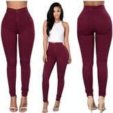 Perman Women Denim Jeans Girls Skinny Stretch Pencil Pants Tights Leggings (L, )