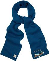 Yumi Embroidered Knitted Scarf