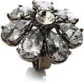 Avalaya Oversized Ice Clear Crystal Flower Cocktail Ring