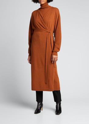Lafayette 148 New York Dolman-Sleeve Cashmere Wrap Cardigan Dress