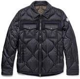 Moncler Stephan Felt-trimmed Quilted Shell Down Jacket - Navy