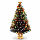 NATIONAL TREE CO National Tree Co. 4 Foot Fireworks Ornament & Top Star Pre-Lit Christmas Tree