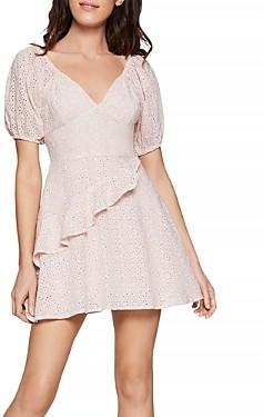 BCBGeneration Cotton Eyelet Mini Dress