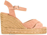 Castaner Blaudell sandals - women - Cotton/Raffia/Leather/rubber - 39
