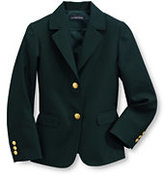 Classic Girls Hopsack Blazer-Aegean Green