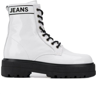 Tommy Jeans leather ankle boots