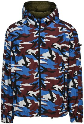 Prada Camouflage Print Reversible Windbreaker