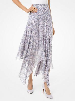 MICHAEL Michael Kors MK Floral Georgette Handkerchief Skirt - Lavender Mist - Michael Kors