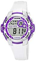 Calypso Girl's Digital Watch with LCD Dial Digital Display and White Plastic Strap K5617/3
