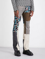 Lanvin Patchwork cotton and linen-blend trousers