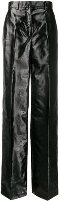 Olivier Theyskens high-waist crinkled trousers