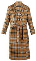 Burberry Vintage-checked belted wool coat