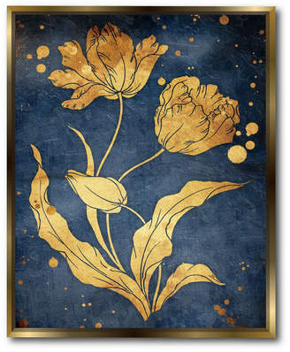 """Courtside Market Floral 20"""" x 24"""" Canvas Wall Art with Float Moulding"""