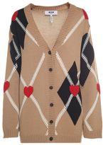 MSGM Jaquard Wool-blend Cardigan Sweater