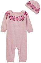 Tea Collection Carino Sweater Romper & Hat Set (Baby Girls)