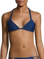 Mikoh Women's Indies Macrame Triangle Bikini Top