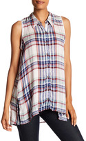 Casual Studio Plaid Sleeveless Tunic